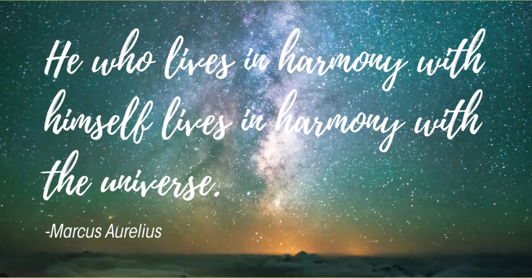 Are you living in harmony with yourself?
